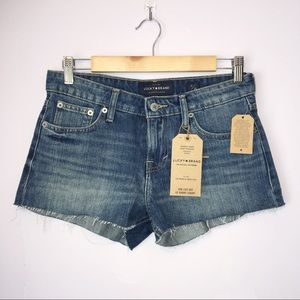 Lucky Brand Cut Off Le Short Court Jean Shorts